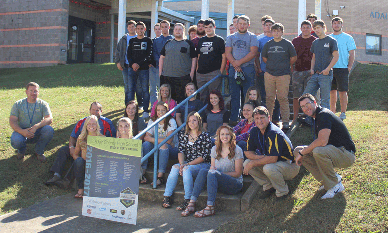 Career Ready and Industry Certified Ag Students at ACHS