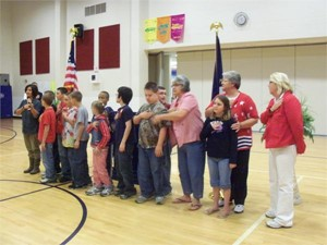 Mrs. Garmon's Class Leads the Pledge of Allegiance